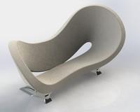 3d model modern sofa