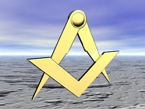 3d masonic square compass