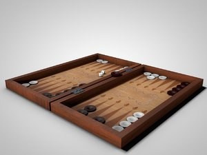 3d model checkers backgammon