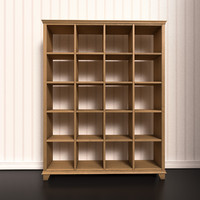 3d bookshelf shelf model