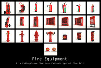 extinguisher hose hydrant 3d max