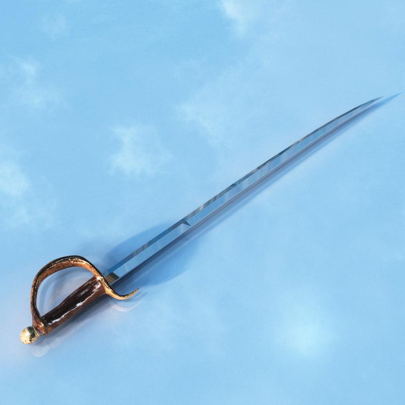 3d sword pirate model