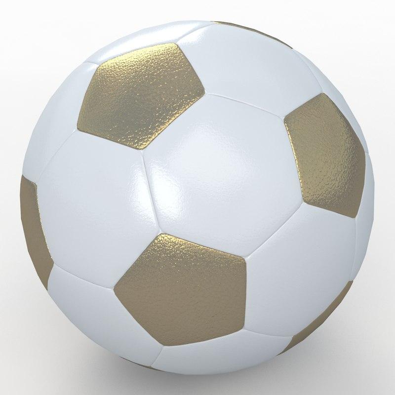 soccer ball white 3d obj