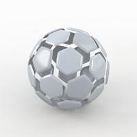 soccer ball white obj