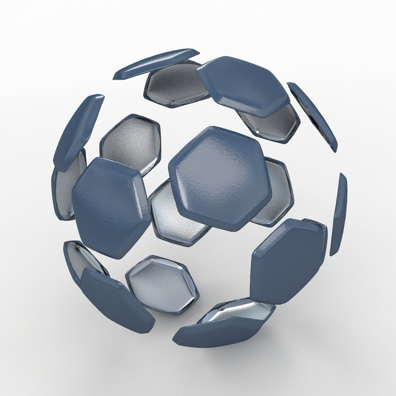 soccer ball black 3ds
