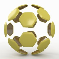 soccer ball 3d dxf