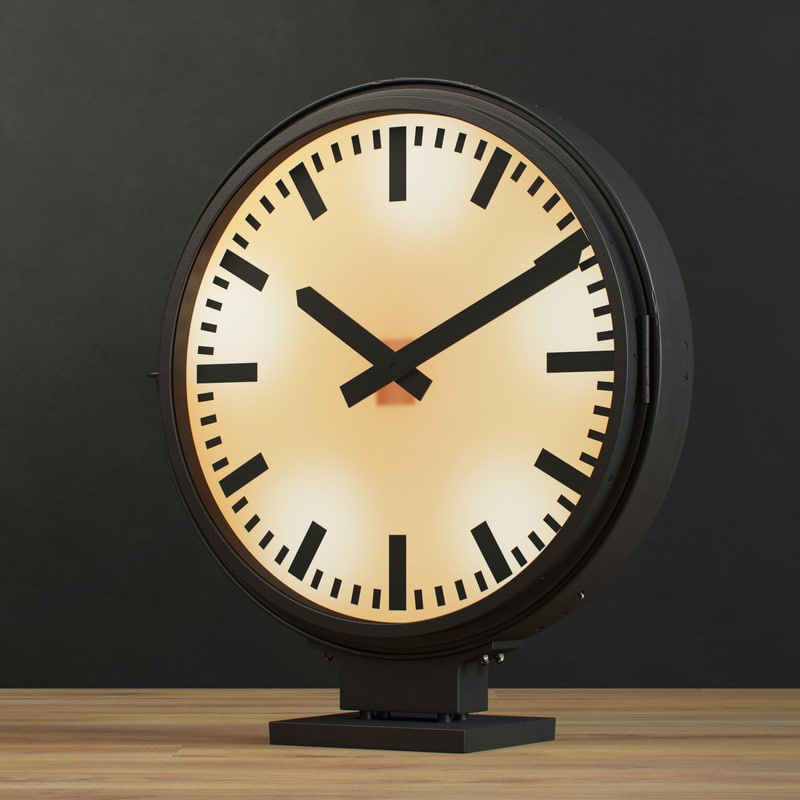 3d clock restoration hardware -