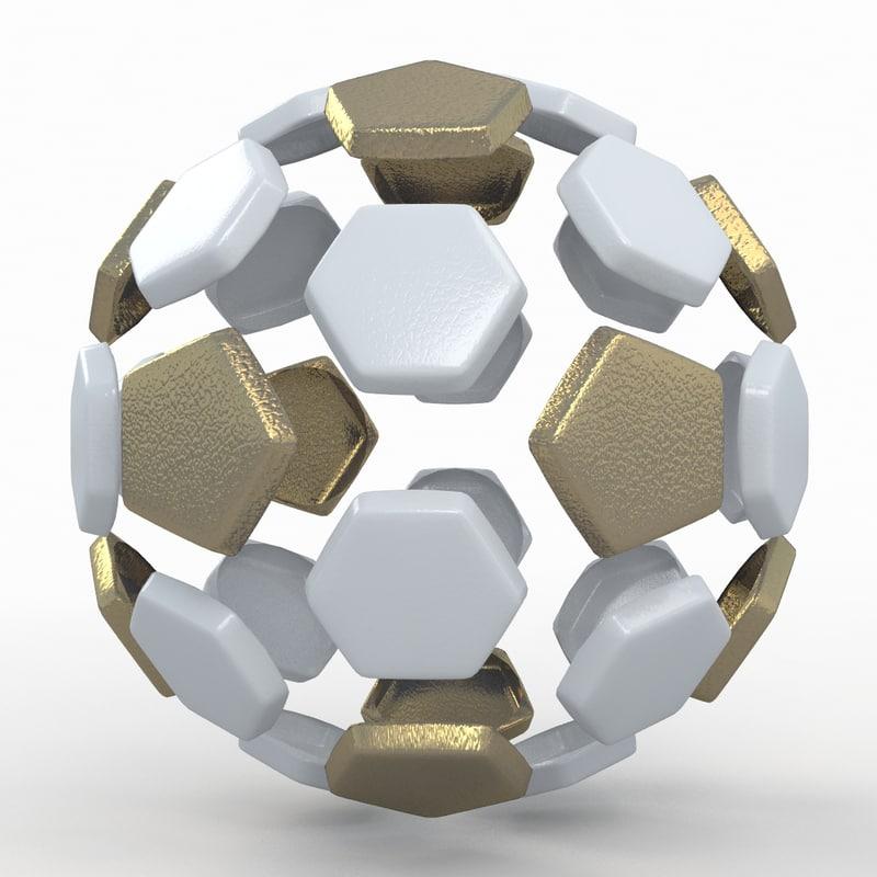 soccer ball white 3d model