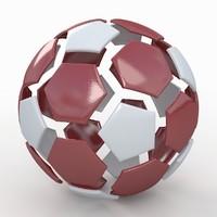 3d soccer ball white
