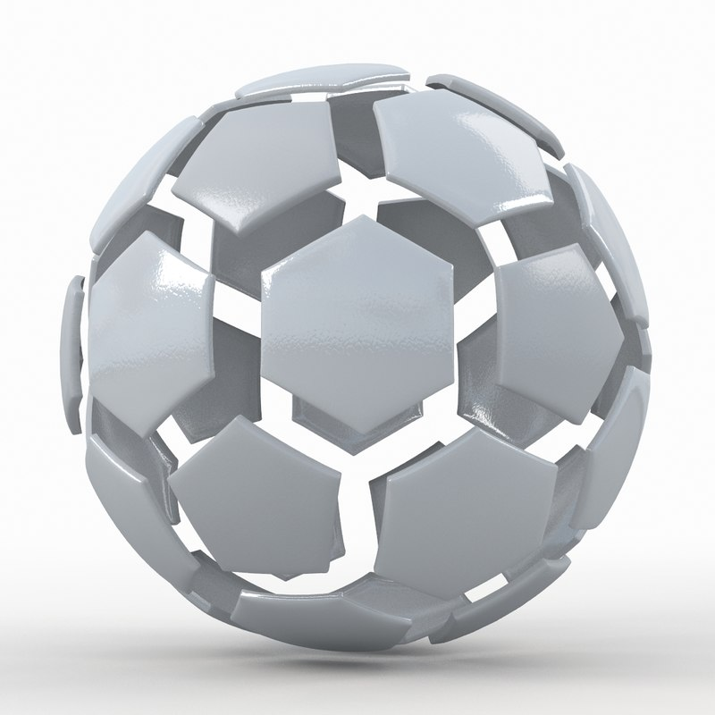 soccer ball white 3d max