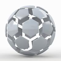 soccer ball white 3d max