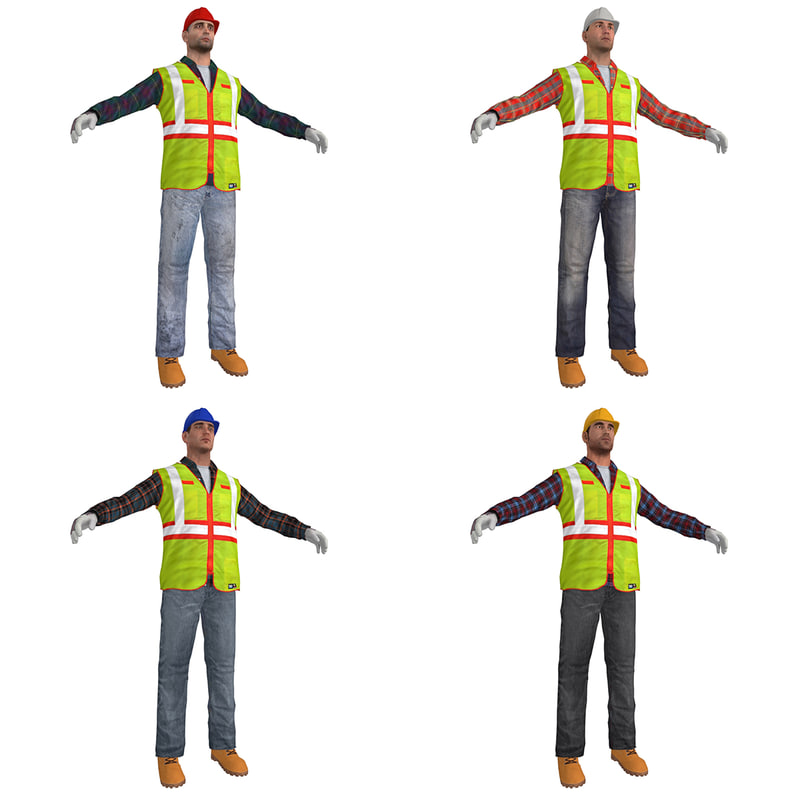 3d pack worker s man
