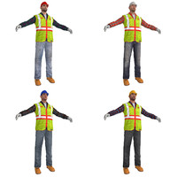 3d pack worker s man