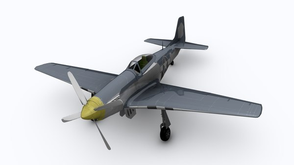wwii fighter 3d c4d