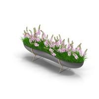 3d model long flowerpot