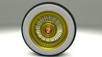 3d model cadillac wheel
