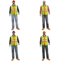 3d pack rigged worker s