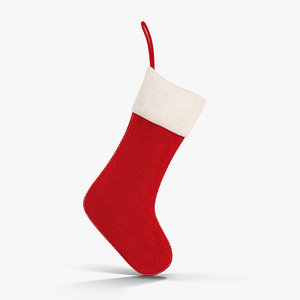 3ds max christmas stocking red