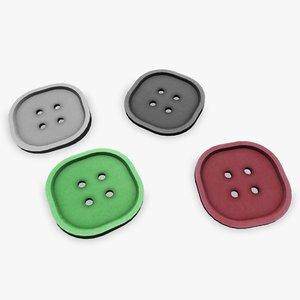 3d model of highpoly button