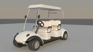 golf cart car 3d max