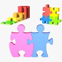 3d puzzle set model