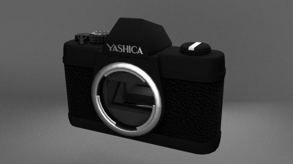 3d model yashica analog camera