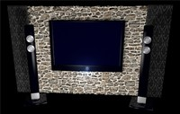 Plasma TV and speakers