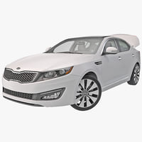 kia optima 2014 rigged 3d model