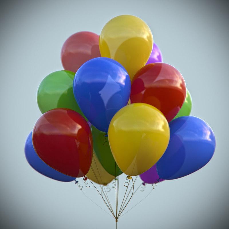 balloon ball 3d obj