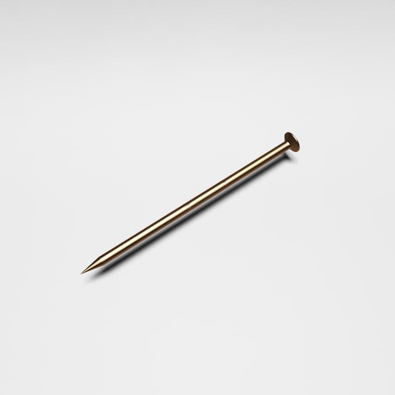 common nail 3d model