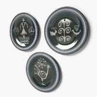 3d decorative ethnic wall dishes
