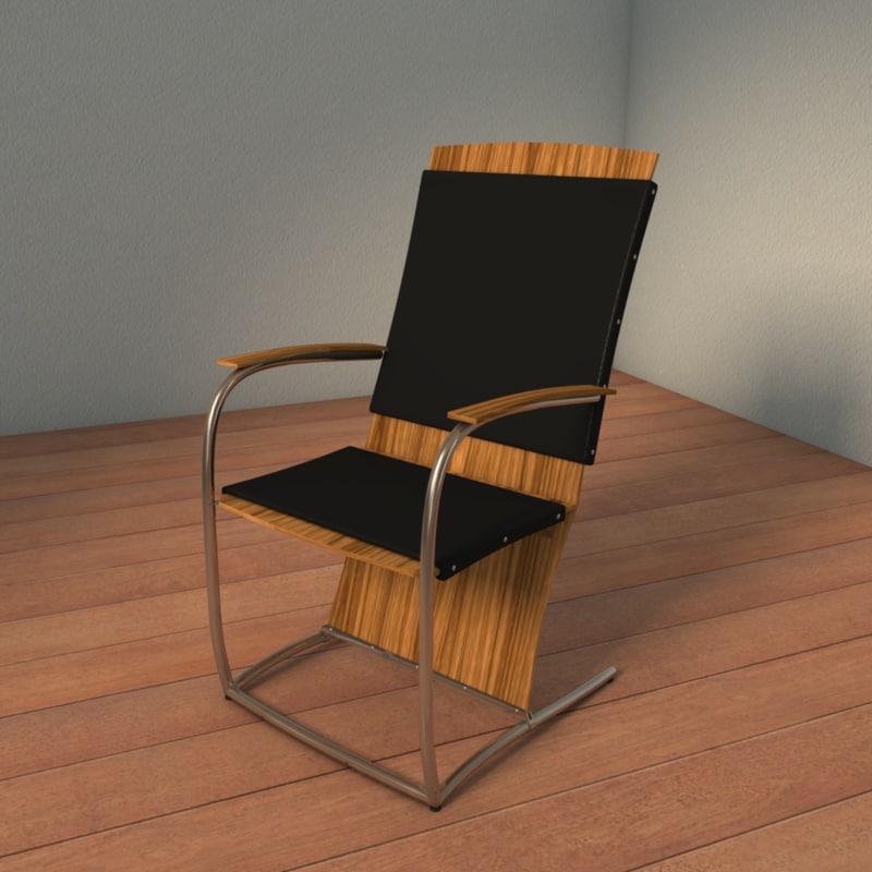 3d arm chair business designed model