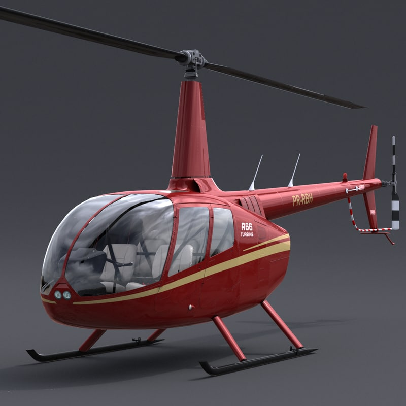 3d robinson r66 helicopter