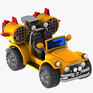 3d jeep car cartoon model
