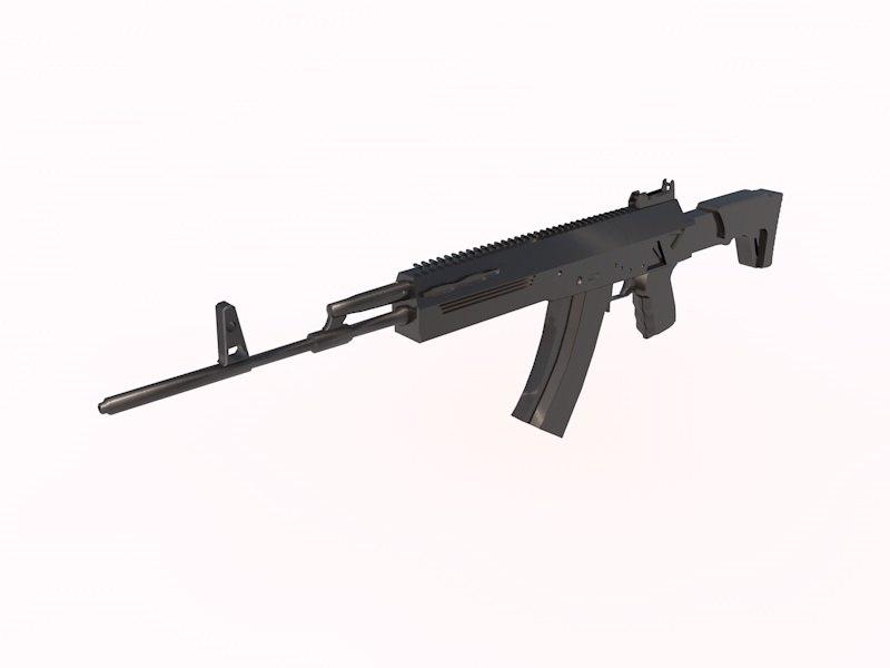 kalashnikov ak-12 assault rifles 3d model