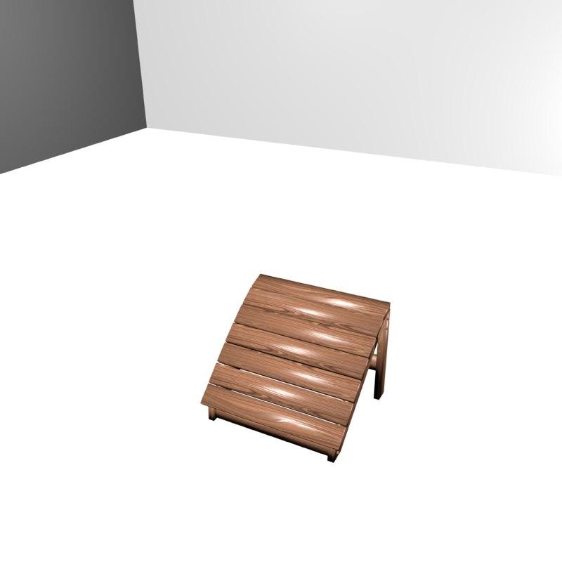 3d model patio foot rest