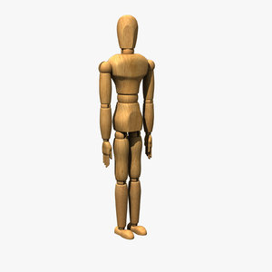 artist mannequin human rigged 3d model
