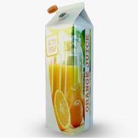 3d model beverage carton
