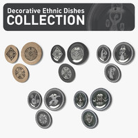 Decorative Ethnic Dishes Collection