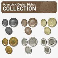 3d model geometric design dishes