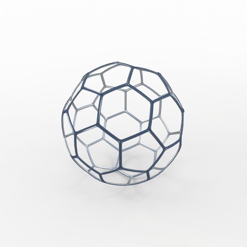 3d soccer ball black