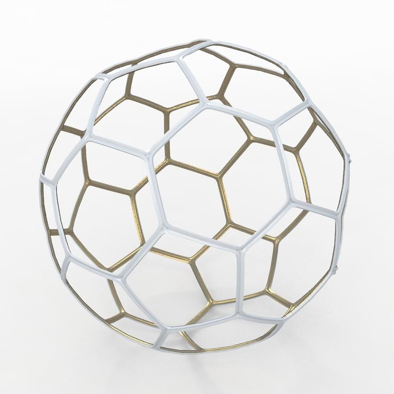 3ds soccer ball white