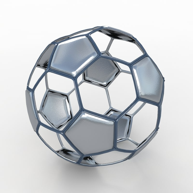 soccer ball black 3d model