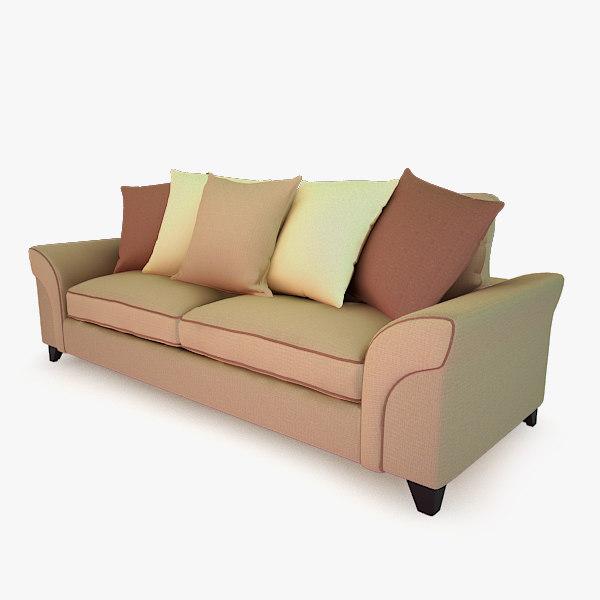 obj sofa modelled