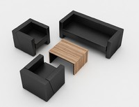 set office sofa 3d model