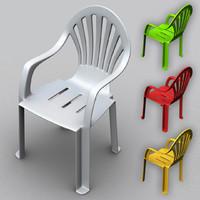 monobloc plastic chair 3d max