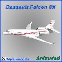 Dassault Falcon 8X Dassault livery