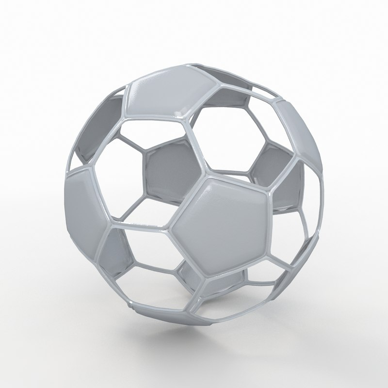 soccer ball white 3d 3ds