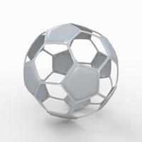 soccer ball white 3d 3ds