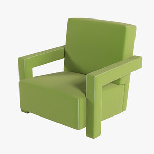utrecht chair 3d model